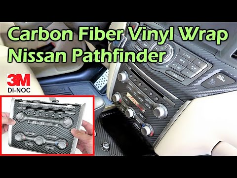 Black Carbon Fiber Vinyl Wrap Interior - 3M Di-Noc - Nissan Pathfinder