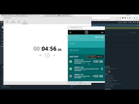 Live demo of sending and receiving IOTA! How many minutes does it take?