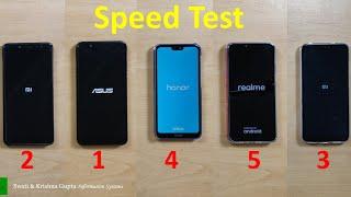 Real Me 2 vs Honor 9N vs Redmi 6 Pro vs Redmi Note 5 Pro vs Asus Zenfone Max Pro M1 Speed Test