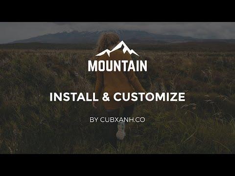 Install & Customize - Mountain Tumblr Theme by Cubxanh.co