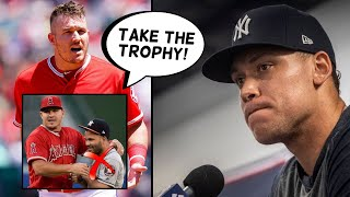 Mike Trout Finally CALLS OUT Astros! Aaron Judge Wants Trophy TAKEN, Giancarlo Stanton (MLB News)