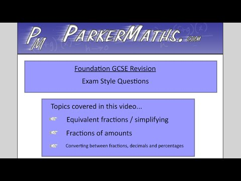Fractions, Decimals & Percentages - Foundation GCSE - Exam Style Questions