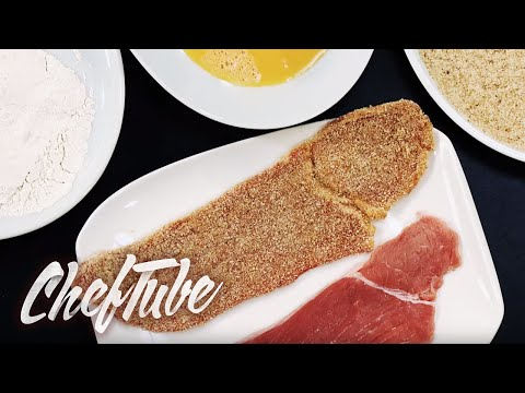 How to Bread Meat (for Schnitzel etc)