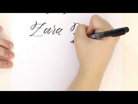 Brush Calligraphy Letter Z