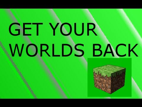How To Get Your Deleted Worlds in Minecraft Back REALLY WORKS