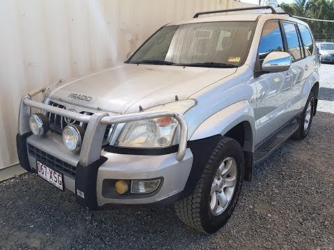 Automatic 4×4 8 Seat Toyota Landcruiser Prado GXL Review 2005 Silver For Sale