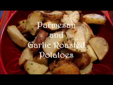 Parmesan and Garlic Roasted Potatoes Recipe