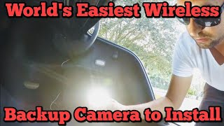 Worlds Easiest WIRELESS Backup Camera to Install (Auto-Vox M1W)