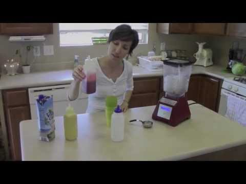 Homemade Snow Cone Syrups // raw // food // easy step by step video