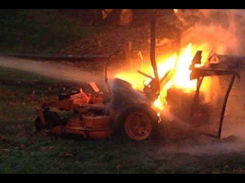 DLC - Lawnmower Burned Up!