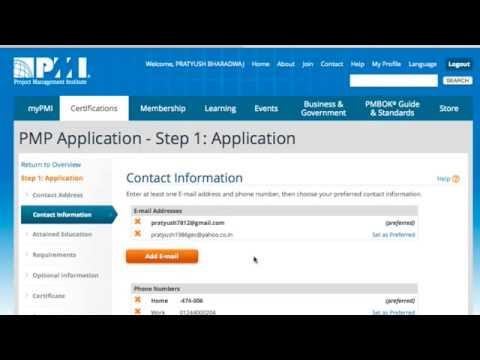 How to fill PMP application in 10 mins - Step by Step