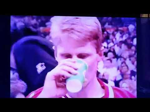 Steve Kerr PISSED OFF in 3 point contest (1996)