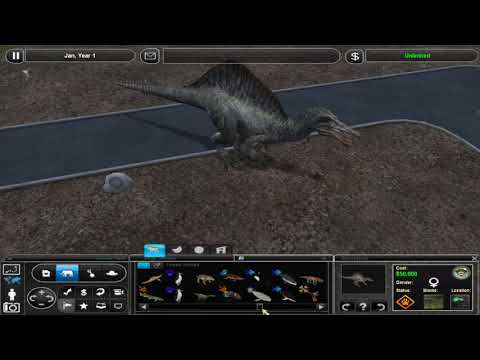 Zoo Tycoon 2 - My collection of JP dinos :')