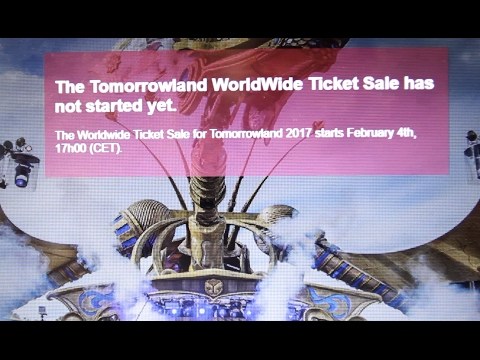 trying to buy tickets for Tomorrowland 2017