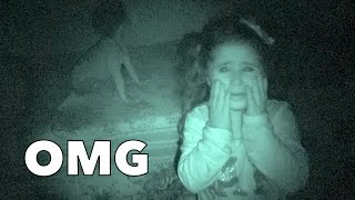 SHE SAW A GHOST!!!!