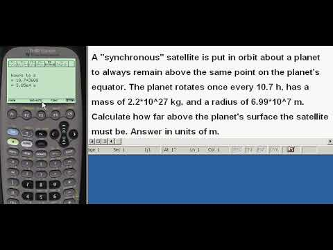 Planets, finding satellite altitude above a planet, given mass, period, and radius of planet