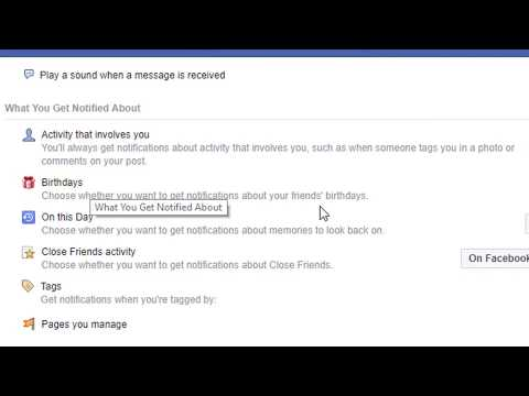 How To Disable/Turn Off Birthday Reminder on facebook