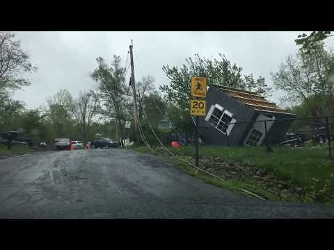 Destruction in Carmel NY after EF2 Tornado