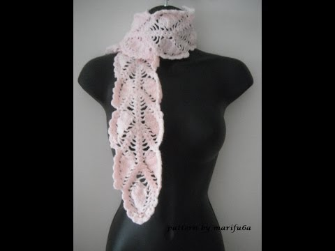 how to crochet pineapple scarf free pattern tutorial