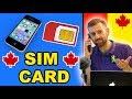 CANADA SIM CARD & CELL PHONE PLANS