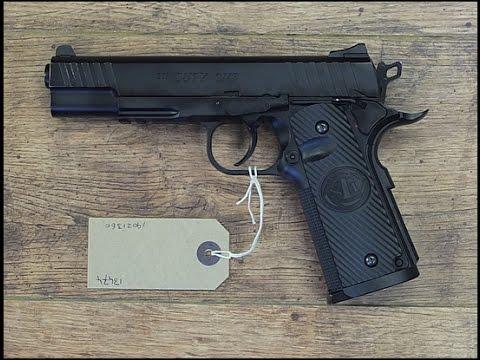 Air GUN TEST: STI Duty ONE Full Metal 2 Joule 400FPS 120m/sec 25g Ball SLOWMOTION