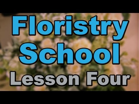 Floristry School Lesson 4: How to make Buttonholes and Corsages (Trailer)