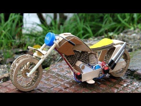 Cardboard toy Motorcycle DIY | Harley Davidson Bike
