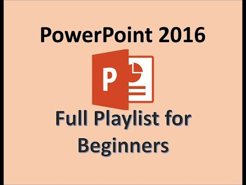 PowerPoint 2016 - Tutorial For Beginners - MOS Exam Tutorials - Learn How To Use Microsoft Office
