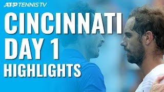 Murray Makes Singles Return; Kyrgios Thrills | Cincinnati Day 1 Highlights
