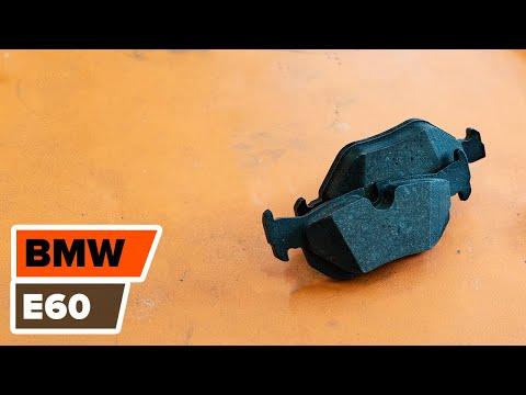 How to replace rear  brake discs and rear brake pads on BMW 5 E60 TUTORIAL | AUTODOC
