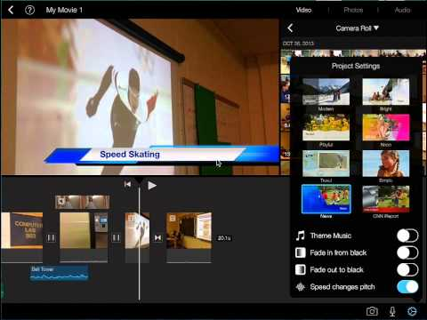 iMovie Project Changing the Video Theme