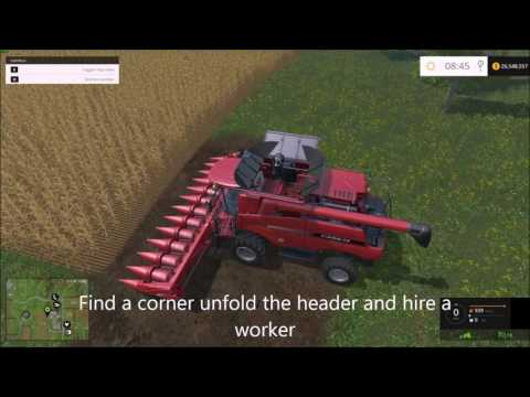 How To Plant And Harvest Crops On Farming Simulator 15 (FULL TUTORIAL)