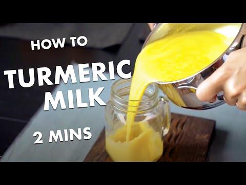 HOW TO MAKE TURMERIC MILK - recipe GOLDEN MILK