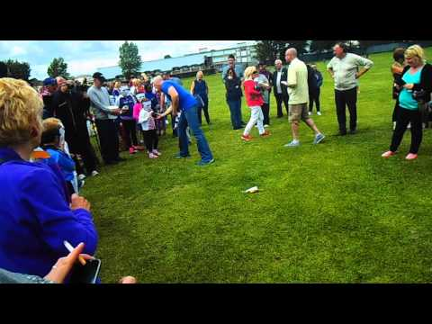 Irish Water Protest 25th July 2015. Edenmore Water Meter Toss Competition