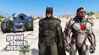 BATMAN VS CYBORG - GTA 5 MOD - Shortest Battle Ever!!