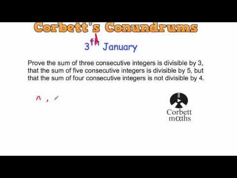 Corbett's Conundrum - 3rd January