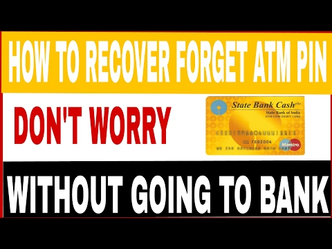How to recover forgotten atm pin...without going to Bank.(hindi)