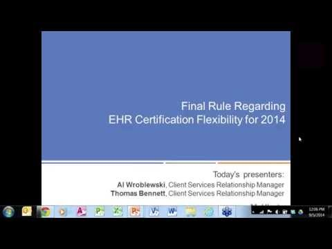 CMS Rule Allows Flexibility in Certified EHR Technology for 2014 - MeHI Webinar