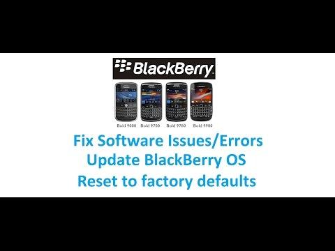 BlackBerry Bold - Fix Software Error, Update OS, Reset to Factory Defaults