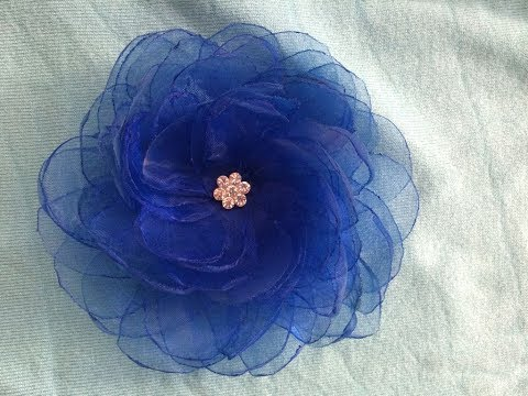 DIY How to make an Organza Flower