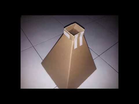 How to Make a Cardboard Hopper by using Solidworks and Pepakura Designer