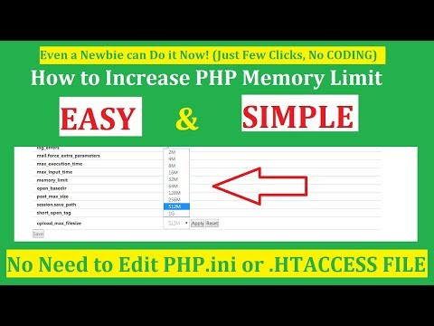 How to Increase PHP Memory Limit WordPress Godaddy or Any Hosting Provider 2018 [IN FEW CLICKS]
