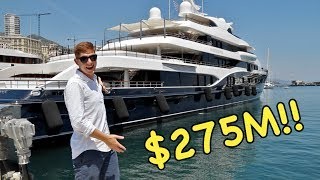 ASKING BILLIONAIRES TO GET ON THEIR YACHTS IN MONACO