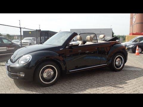 Volkswagen NEW Beetle  Cabrio 2017 Deep Black Pearl / beige leder en Xenon