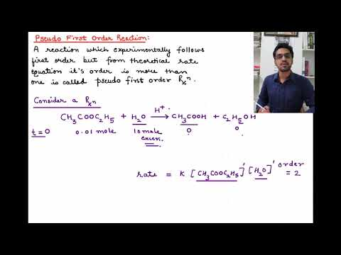 CHEMICAL KINETICS - pseudo first order reaction