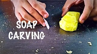 soap carving/homemade soap carving/soap carving a car for beginners