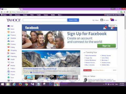how to create account facebook and yahoo account