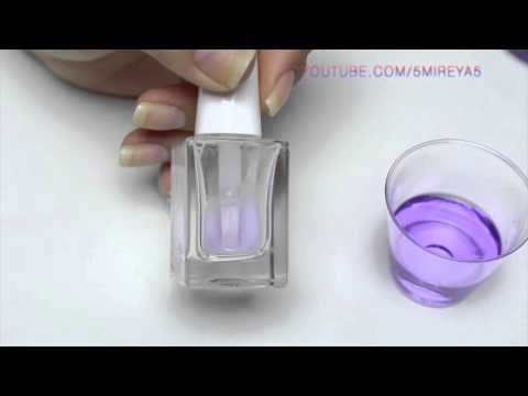Easy How to clean a nail polish bottle