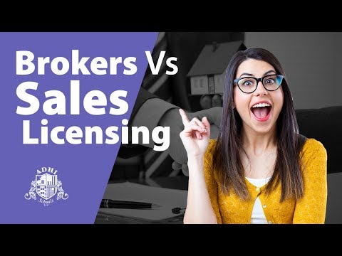 Broker vs salesperson real estate license in California.  What's the difference?