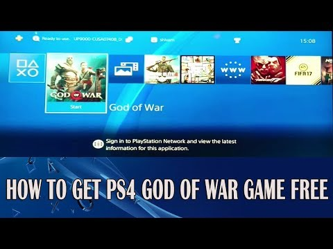 How to Get God Of War [FREE] PS4 Game Free on 5.05 via USB 2018